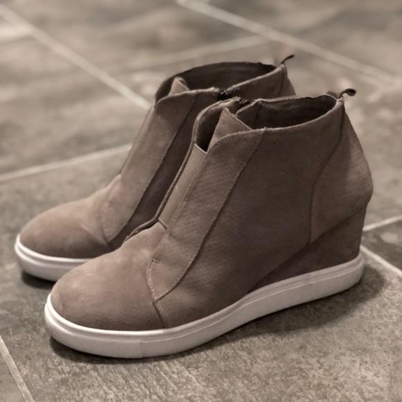 Blondo Waterproof Suede Wedge Sneakers